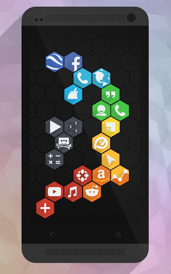Flatty - A Flat Hex Icon Pack - screenshot