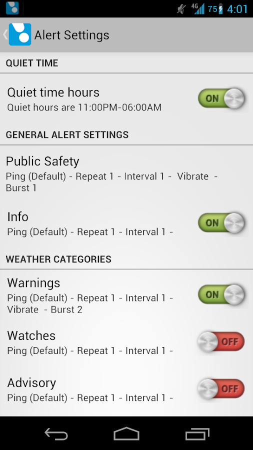 ping4alerts! - screenshot