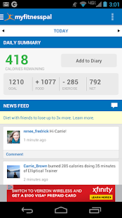 Calorie Counter - MyFitnessPal Fitness app screenshot for Android