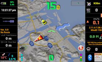 Screenshot of Variometer-Sky Land Tracker