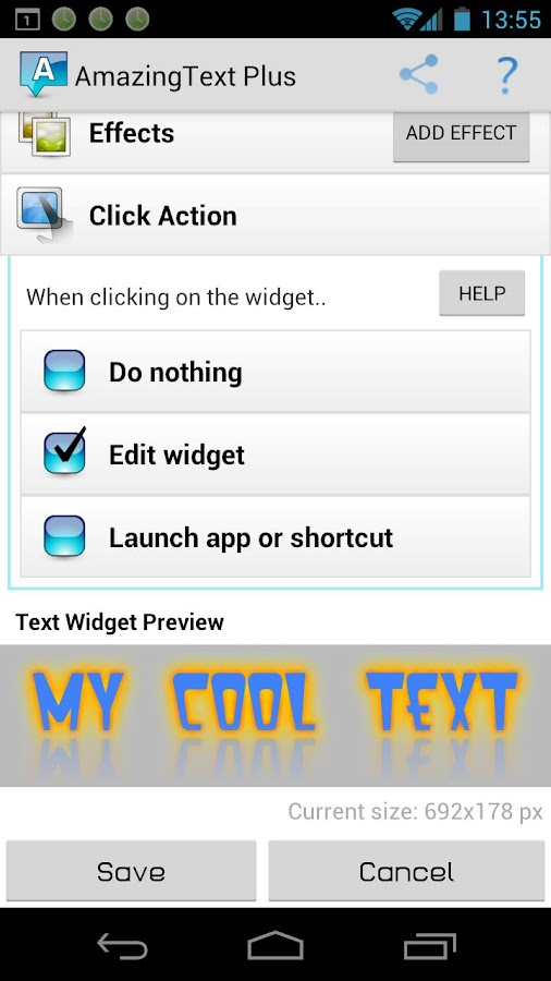 AmazingText Plus - Text Widget - screenshot
