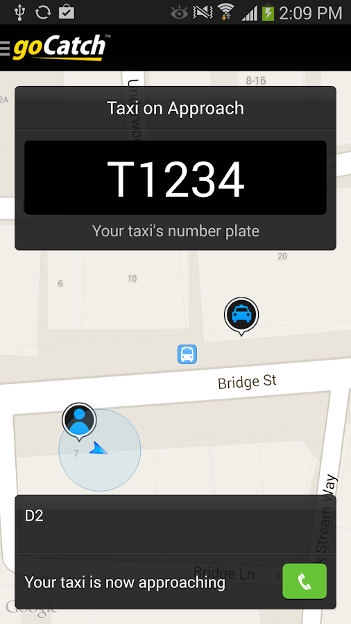 goCatch™ The Free Taxi Cab App - screenshot