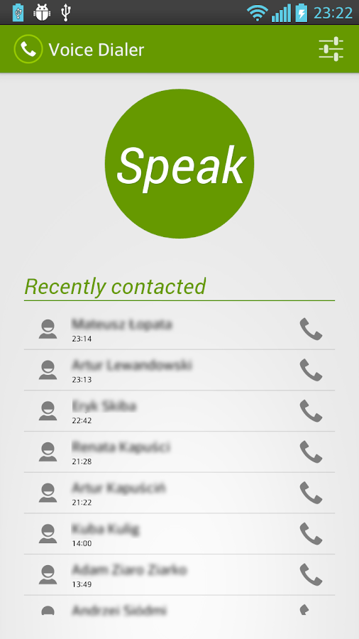 Voice Dialer (Voice Dialing) - screenshot