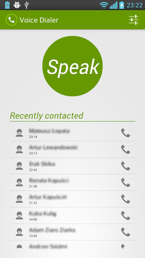 Voice Dialer (Voice Dialing) - screenshot