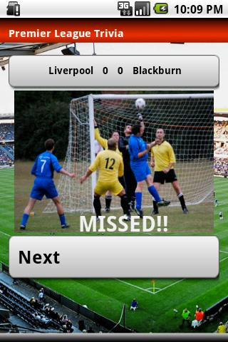 Premier League Trivia 2010- screenshot