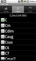 Screenshot of Capo Help