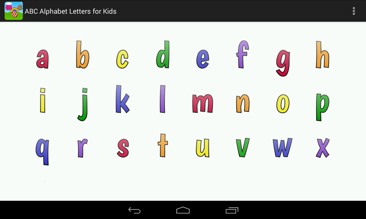 abc alphabet letters for kids screenshot