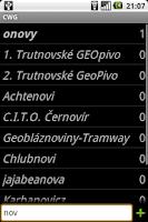Screenshot of Czech Wood Geocoin