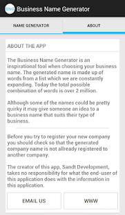 Business Name Generator- screenshot thumbnail