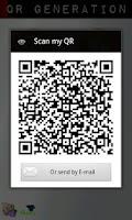 Screenshot of QR code Generation