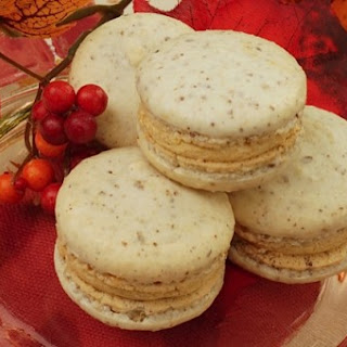 Hazelnut Macarons with Sweet Potato Buttercream Filling