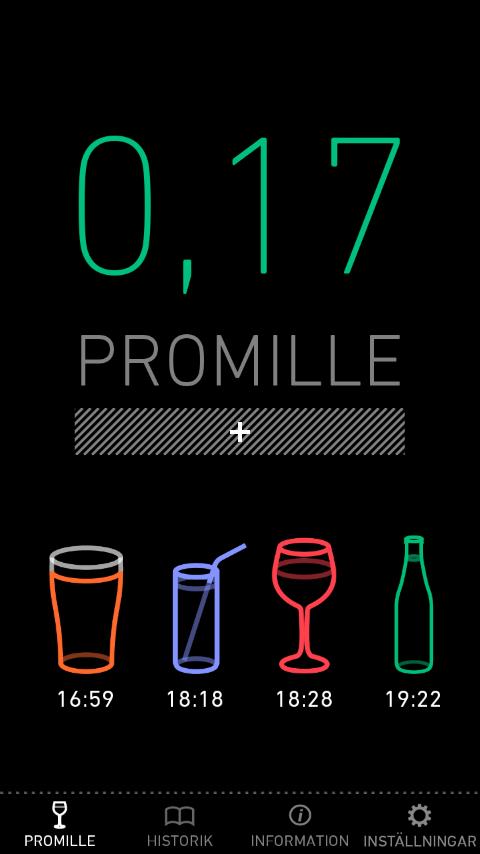 Promillekoll- screenshot
