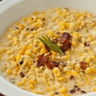 Creamed Corn with Bacon and Rosemary.