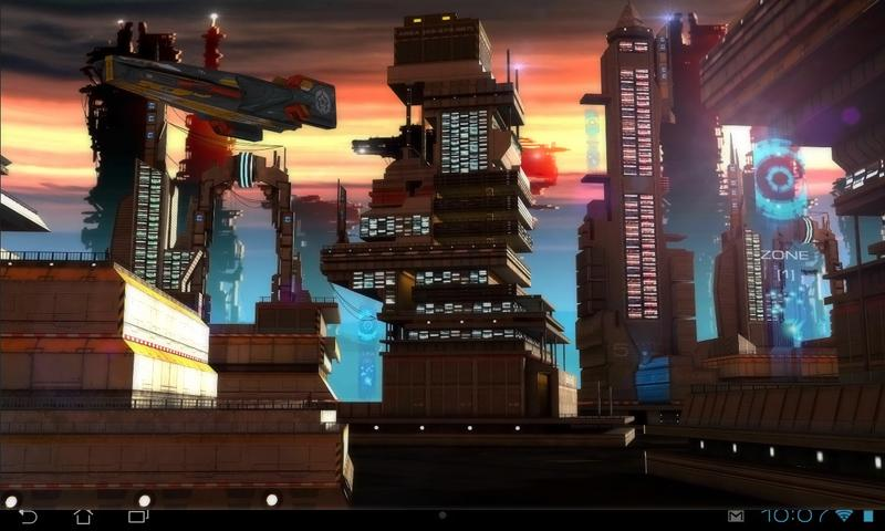 Space Cityscape 3D LWP- screenshot