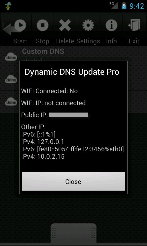 Dynamic DNS Update- screenshot