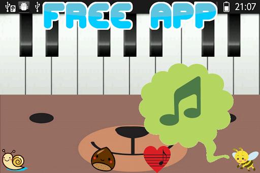 簡単ピアノ歌付きシンプルキーボードくまさん鍵盤