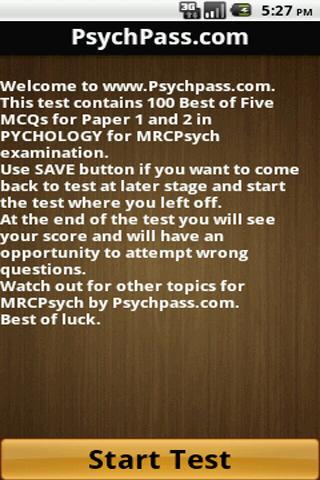 MRCPsych Psychology Paper 1 2