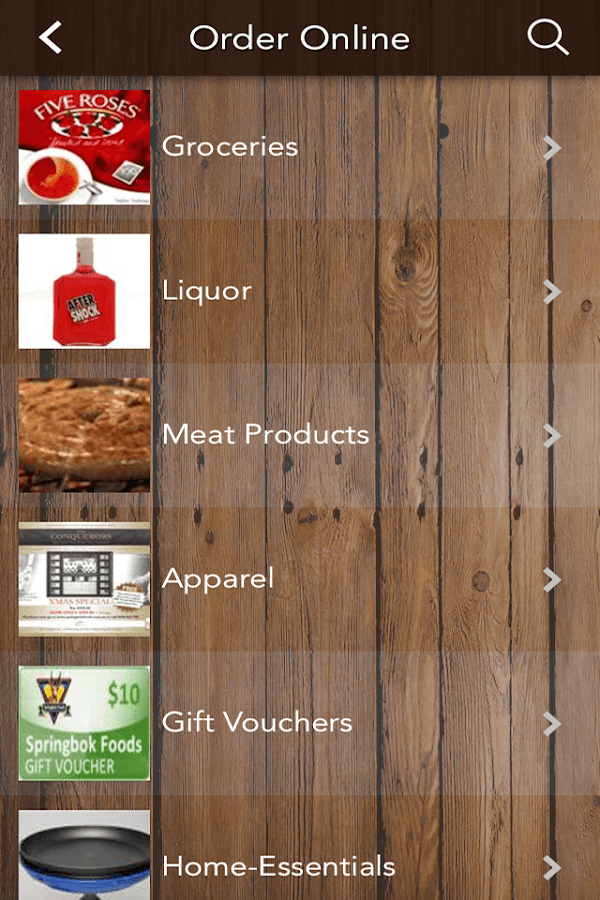 Springbok Foods- screenshot