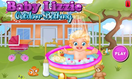 Baby Lizzie Outdoor Bathing