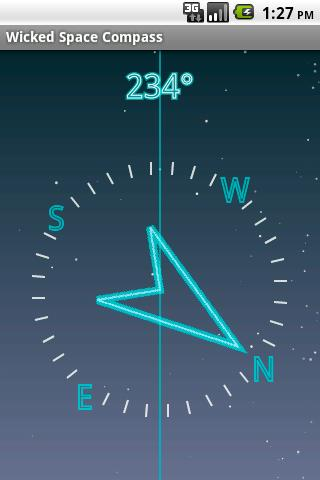 Wicked Space Compass - screenshot