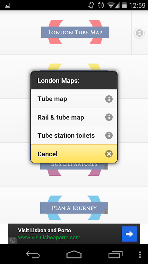 London Transport Planner- screenshot