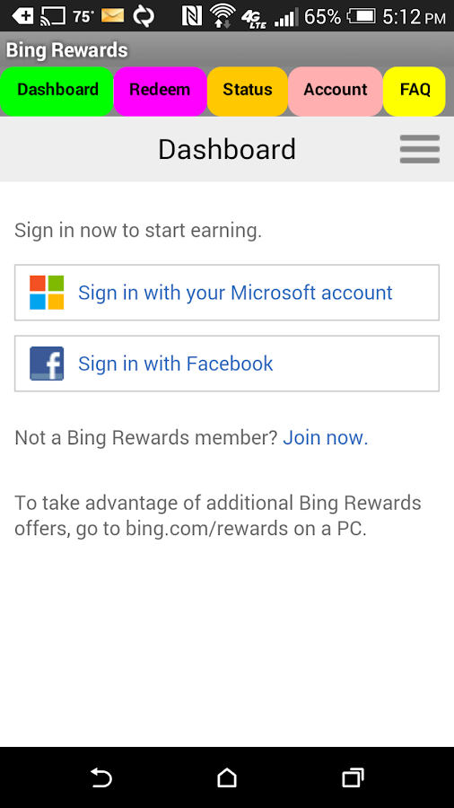 Bing Rewards Dashboard - Android Apps on Google Play