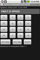 Screenshot of AH Alarm Panel