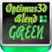 Green 3D Optimus Next Launcher