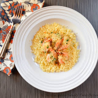 Quick Herbed Panko Baked Shrimp With Couscous.
