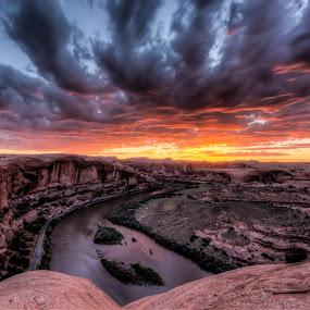 Moab Sunset by Ed Mullins - Landscapes Sunsets & Sunrises (  )