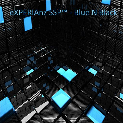 Theme eXPERIAnz SSP Blue Black LOGO-APP點子