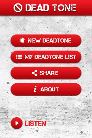 Dead Tone App- screenshot