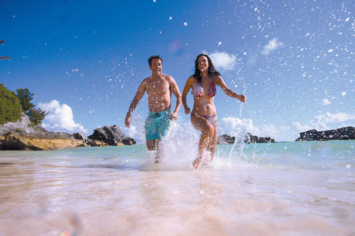 Norwegian-Cruise-Line-beach-run - Play on Bermuda's beautiful beaches when you cruise the Caribbean on a  Norwegian Cruise Line ship.