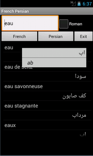 French Persian Dictionary