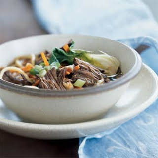 Chinese-Style Stove-Top Pot Roast with Noodles.