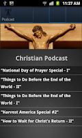 Screenshot of Christian Podcasts