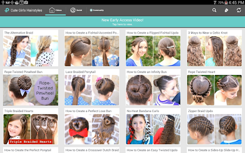 Cute Girls Hairstyles - screenshot thumbnail