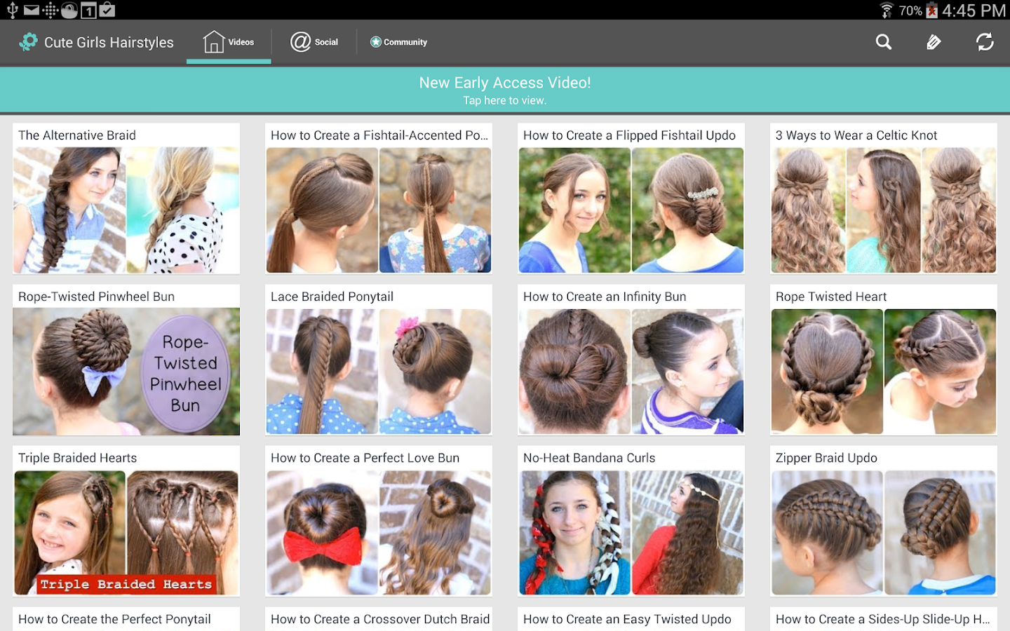 cute girls hairstyles - android apps on google play