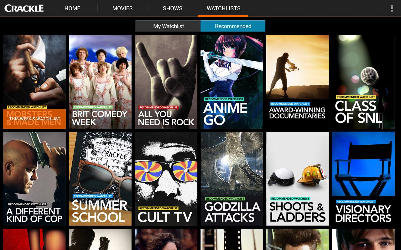 Crackle Free Tv Movies Android Apps On Google Play