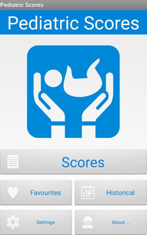 Pediatric Scores- screenshot