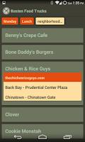 Screenshot of Boston Food Trucks