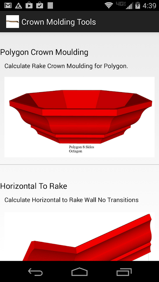 Crown Molding Tools- screenshot