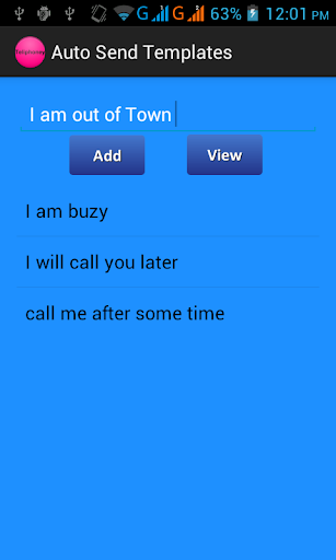 Auto Answer Call SMS machine