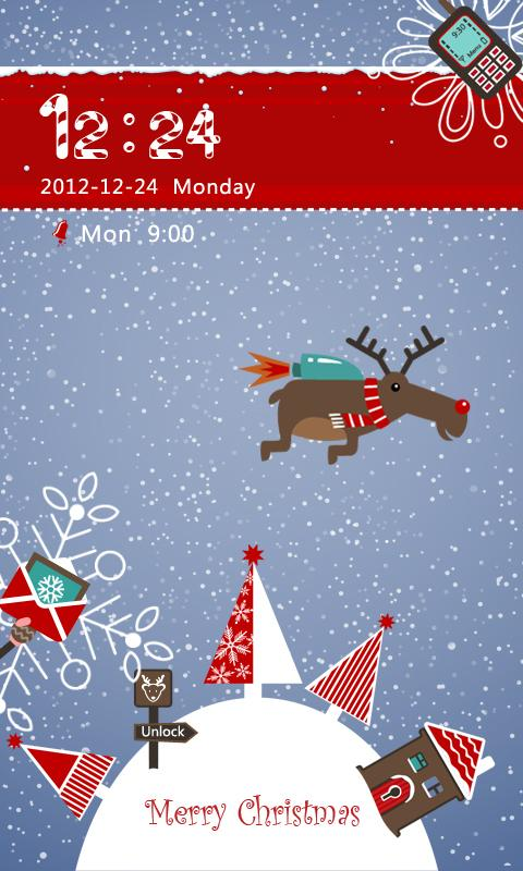 S-Xmas Moose GO Locker Theme - screenshot