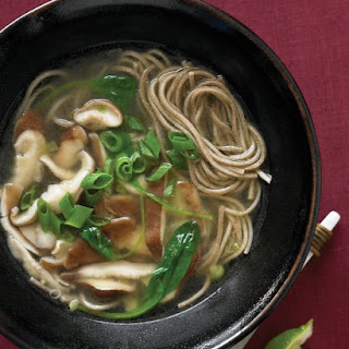 Soba Soup with Spinach
