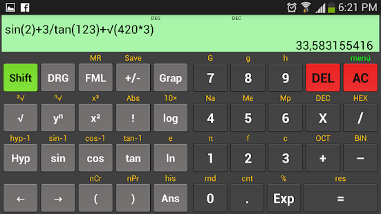 Scientific calculator Kal- screenshot thumbnail