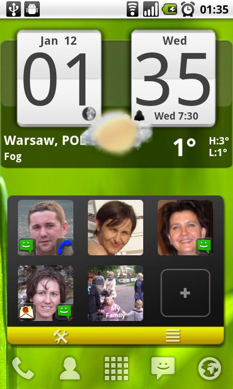 Arti's Fancy Contact Widget - screenshot