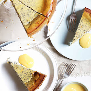 Poppy Seed And Ricotta Cake With Lemon Curd.