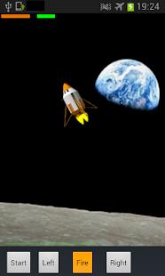 Spaceship Landing on Moon