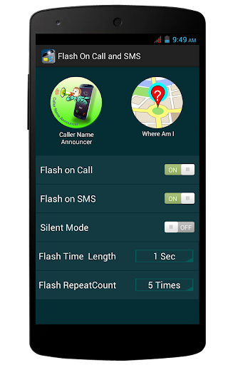 Flash On Call and SMS